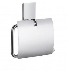 Smedbo Toalettpappershållare Borstad med lock Home